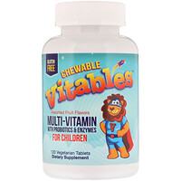 Chewable Multi-Vitamins for Children, Assorted Fruit Flavors, 120 Vegetarian Tablets - фото