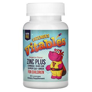 Vitables, Zinc Plus for Children, Zink für Kinder, Mandarinengeschmack, 90Lutschtabletten