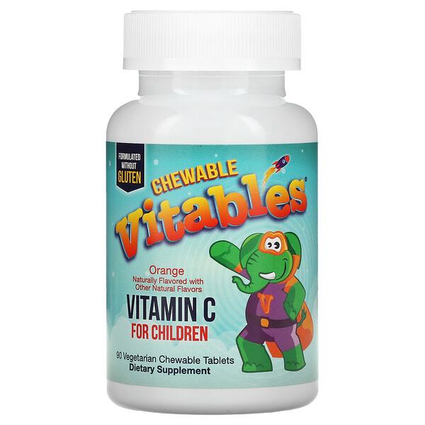 Chewable Vitamin C for Children, Orange, 90 Vegetarian Tablets
