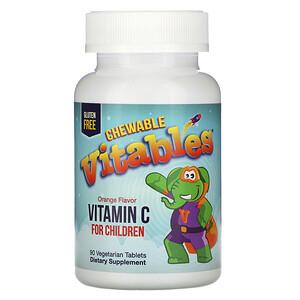 Vitables, Vitamin C Chewables for Children, Orange Flavor, 90 Vegetarian Tablets отзывы