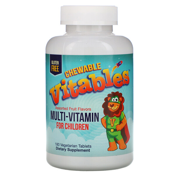 Multi-Vitamin for Children, Assorted Fruit Flavors, 180 Vegetarian Tablets