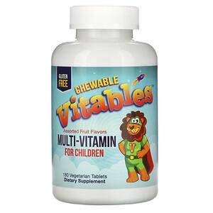 Vitables, Multi-Vitamin for Children, Assorted Fruit Flavors, 180 Vegetarian Tablets отзывы