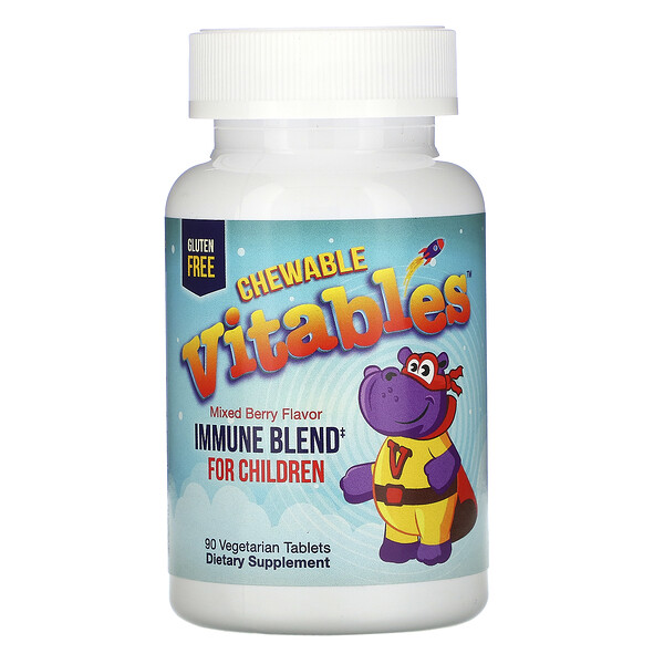 Vitables, Immune Blend Chewables for Children, Mixed Berry Flavor, 90 Vegetarian Tablets