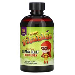 Vitables, 兒童液體過敏緩解劑,無酒精,葡萄味,4 液量盎司(120 毫升)