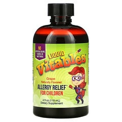 Vitables, Liquid Allergy Relief for Children, No Alcohol, Grape Flavor, 4 fl oz (118 ml)