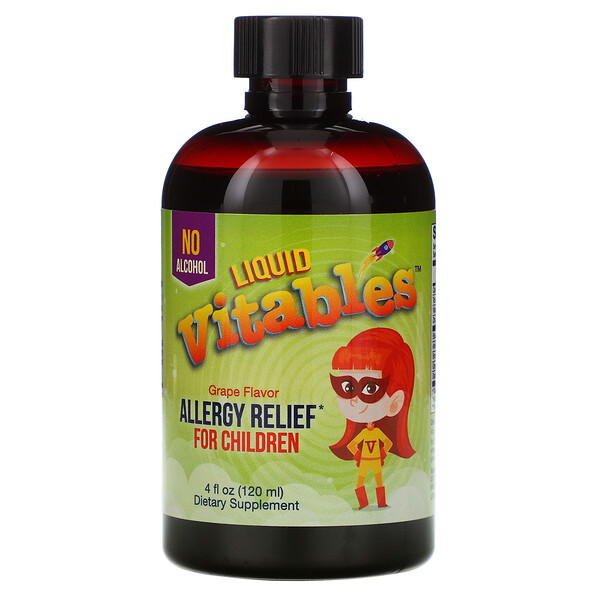 Liquid Allergy Relief For Children, No Alcohol, Grape Flavor, 4 fl oz (120 ml)