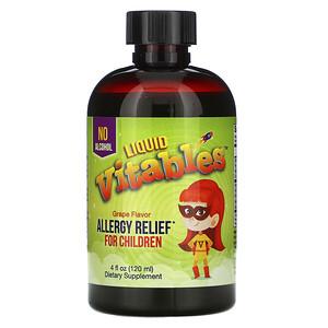Vitables, Liquid Allergy Relief For Children, No Alcohol, Grape Flavor, 4 fl oz (120 ml) отзывы