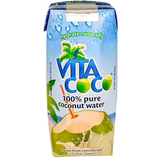 Vita Coco, 100% Pure Coconut Water, 11.1 fl oz (330 ml) (Discontinued Item)