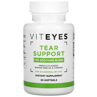Viteyes, Tear Support, Eye Soothing Blend, 30 Softgels