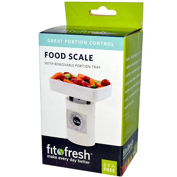 Vitaminder, Fit & Fresh, Food Scale with Removable Portion Tray