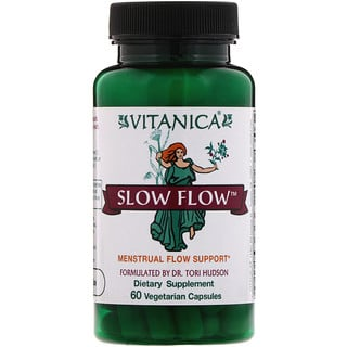 Vitanica, Slow Flow, Menstrual Flow Support, 60 Vegetarian Capsules