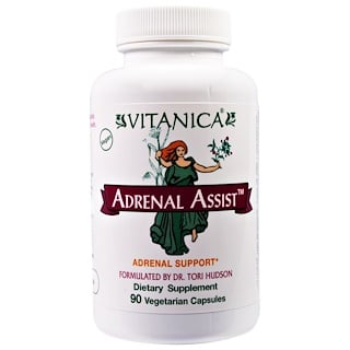 Vitanica, Adrenal Assist, Adrenal Support, 90 Veggie Caps