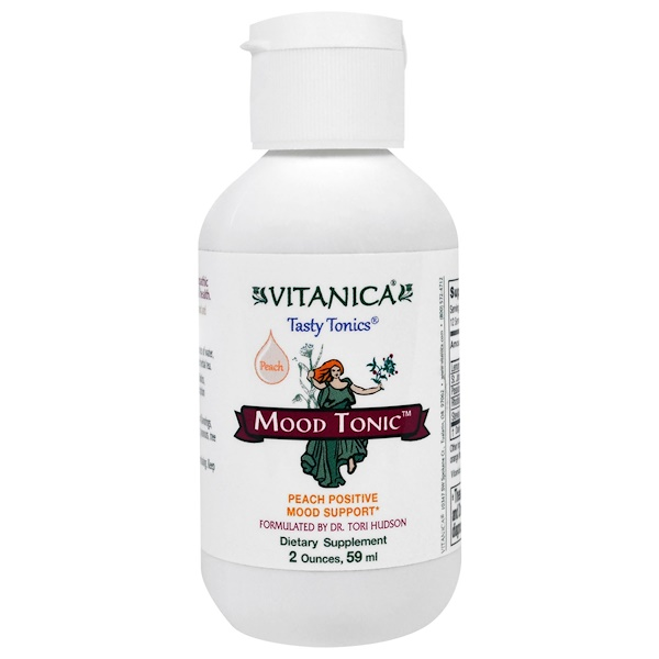 Vitanica, Mood Tonic, Peach Flavor, 2 oz (59 ml) (Discontinued Item)