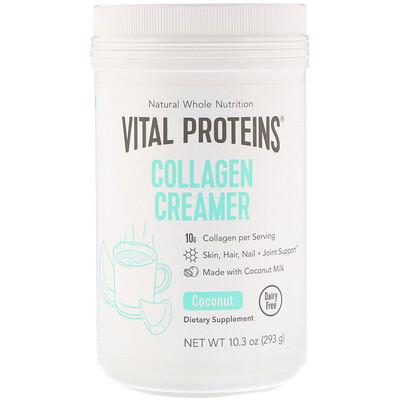 Купить Vital Proteins Коллагеновые сливки, кокос, 293г (10, 3унции)
