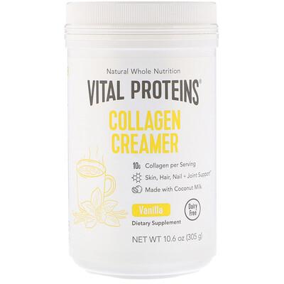 Купить Vital Proteins Коллагеновые сливки, ваниль, 305г (10, 6унции)