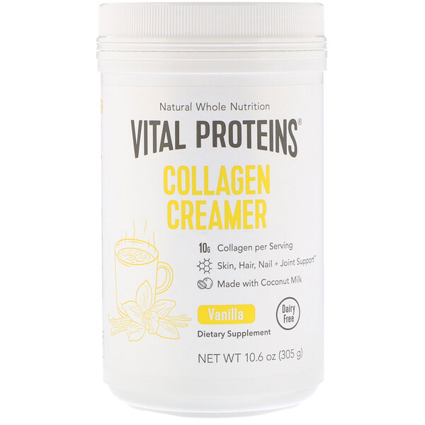 Collagen Creamer, Vanilla, 10.6 oz (305 g)