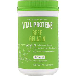 Vital Proteins, Beef Gelatin, Unflavored, 16.4 oz (465 g)