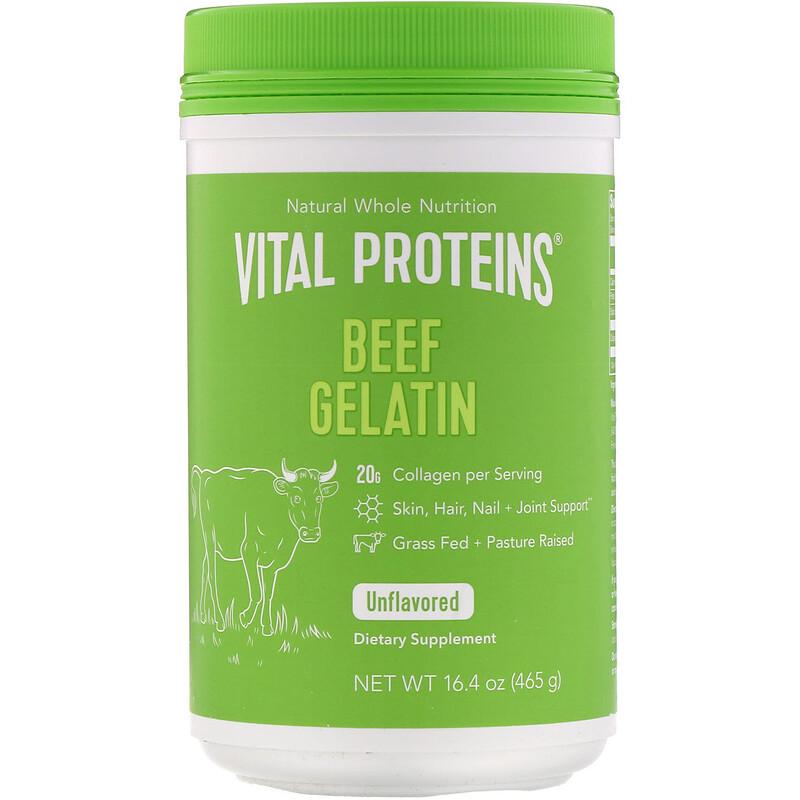 Beef Gelatin, Unflavored, 16.4 oz (465 g)