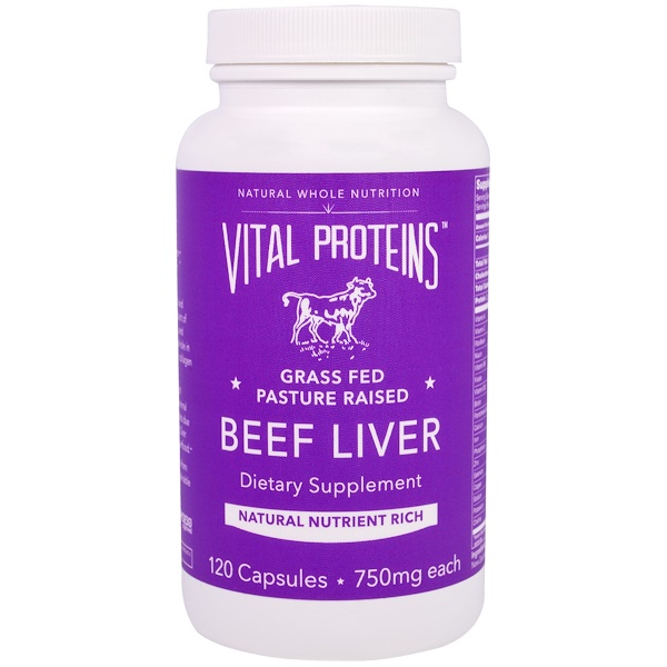 Vital Proteins, Beef Liver, 750 mg, 120 Capsules