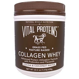 Vital Proteins, Collagen Whey, Cocoa & Coconut Water, 22.2 oz (630 g)