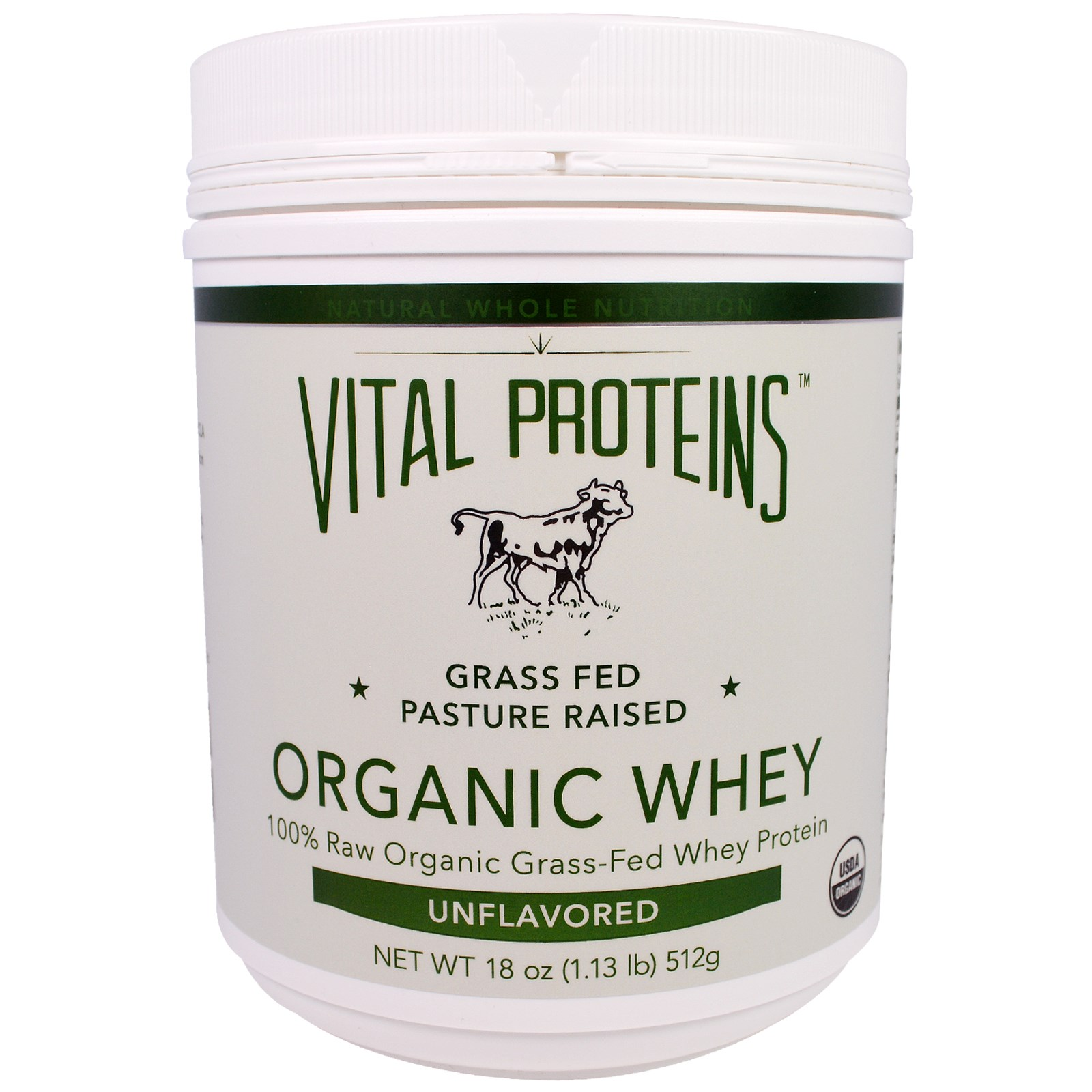 Vital Proteins, Органическая сыворотка, без ароматизаторов, 18 унций (512 г)