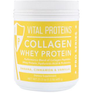 Vital Proteins, Collagen Whey Protein, Banana, Cinnamon & Vanilla, 21.3 oz (605 g)