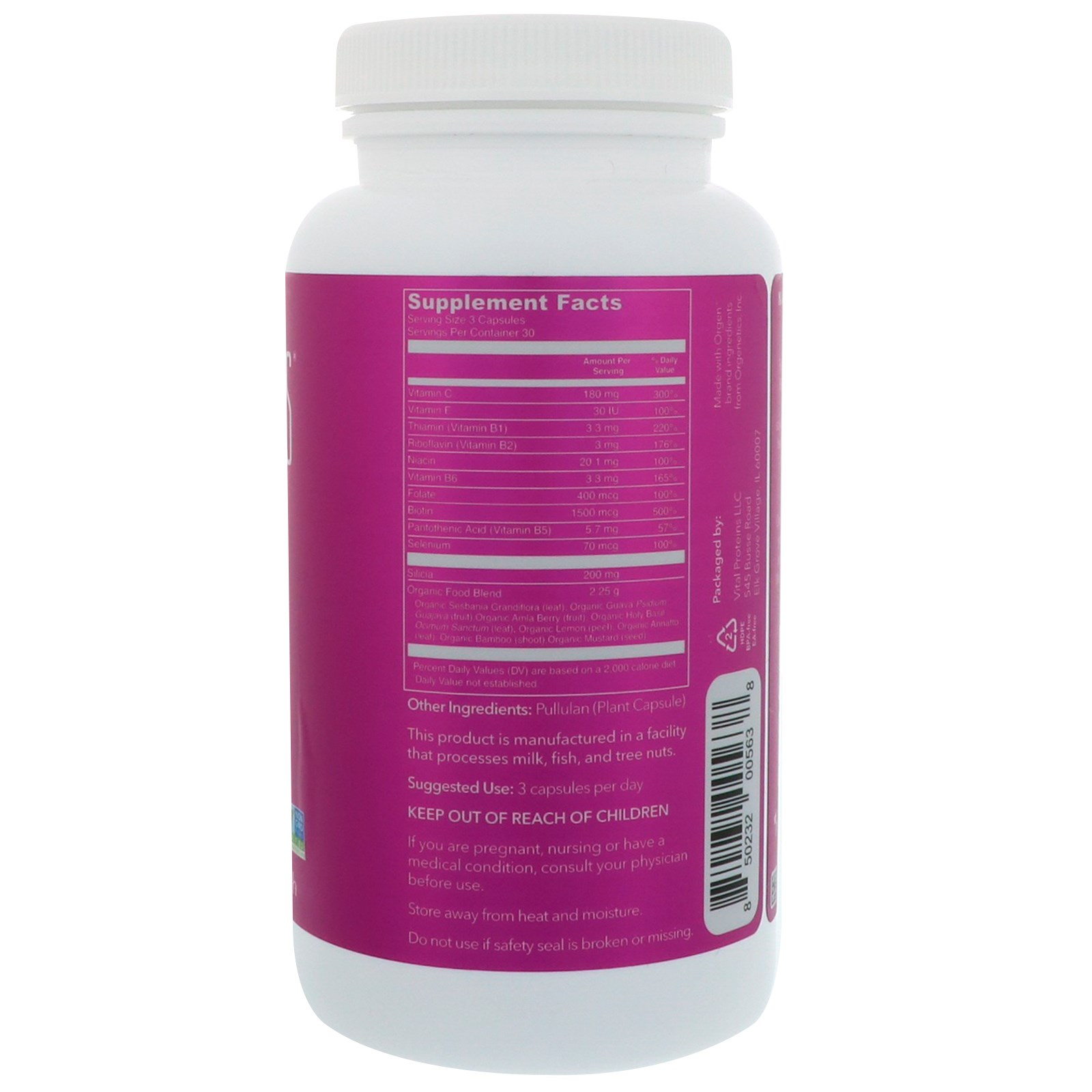 Vital Proteins, Beauty Boost, For Hair, Skin, & Nails, 750