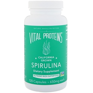 Vital Proteins, Spirulina, 120 Capsules