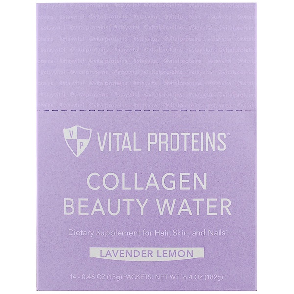 Vital Proteins, Collagen Beauty Water, Lavender Lemon, 14 Packets, 0.46 oz (13 g) Each (Discontinued Item)