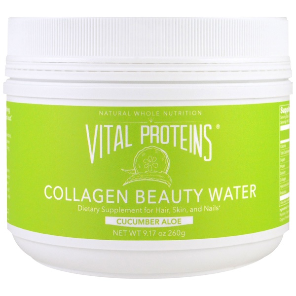 Vital Proteins, Collagen Beauty Water, Cucumber Aloe, 9.17 oz (260 g) (Discontinued Item)