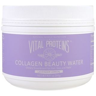 Vital Proteins, 콜라겐 뷰티 워터, 라벤더 레몬, 9.17 oz (260 g)