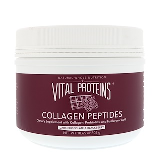 Vital Proteins, コラーゲンペプチド、ダークチョコレート&ブラックベリー、10.65 oz (302 g)