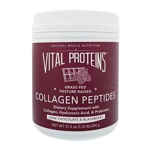 Витал Потеинс, Collagen Peptides, Dark Chocolate & Blackberry , 21.3 oz (604 g) отзывы