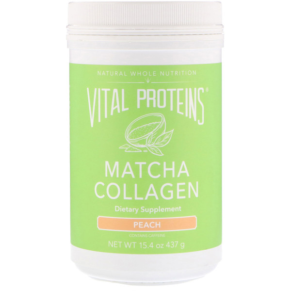 Vital Proteins, Matcha Collagen, Peach, 15、4 oz (437 g)