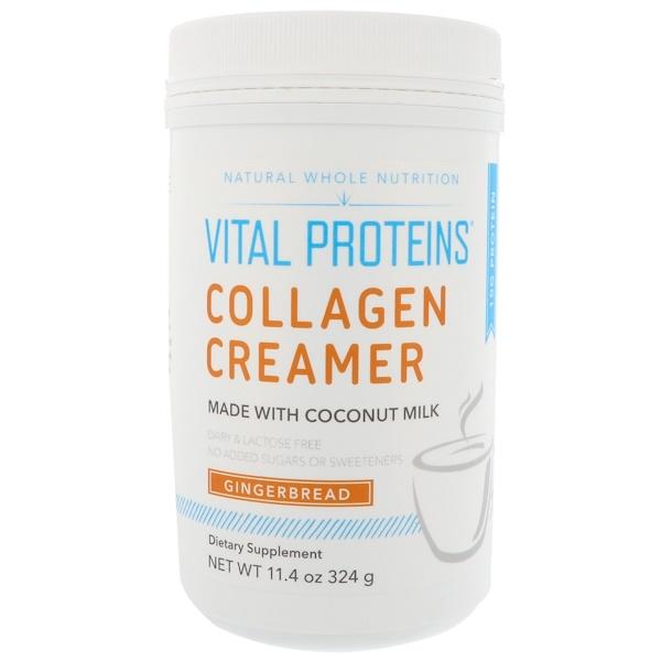 Vital Proteins, 膠原蛋白植脂末,薑餅,11、4 盎司(324 克)