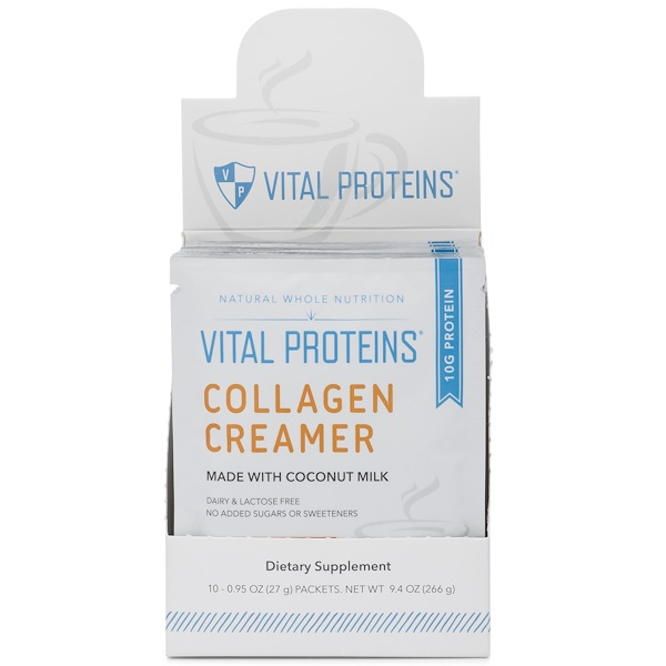 Vital Proteins, Collagen Creamer, Gingerbread, 10 Packets , 0.95 oz (27 g) Each (Discontinued Item)