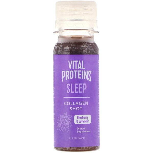 Vital Proteins, קולגן נוזלי, שינה, אוכמניות ולבנדר, 59 מ״ל