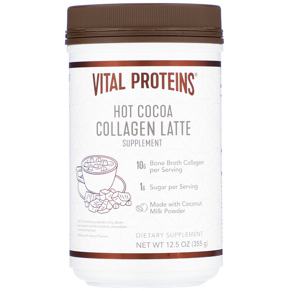 Collagen Latte, Hot Cocoa, 12.5 oz (355 g)