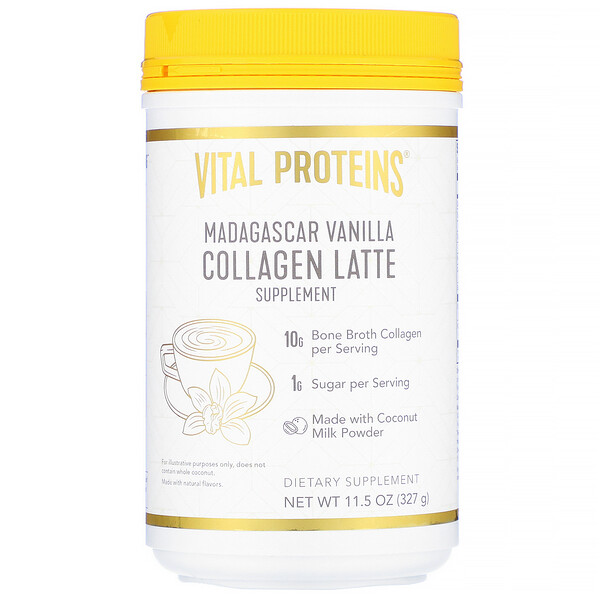 Collagen Latte, Madagascar Vanilla, 11.5 oz (327 g)