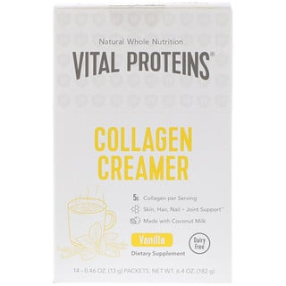 Vital Proteins, Collagen Creamer, Vanilla, 14 Packets, 0.46 oz (13 g) Each