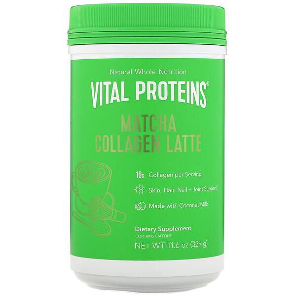 Matcha Collagen Latte, Unflavored, 11.6 oz (329 g)