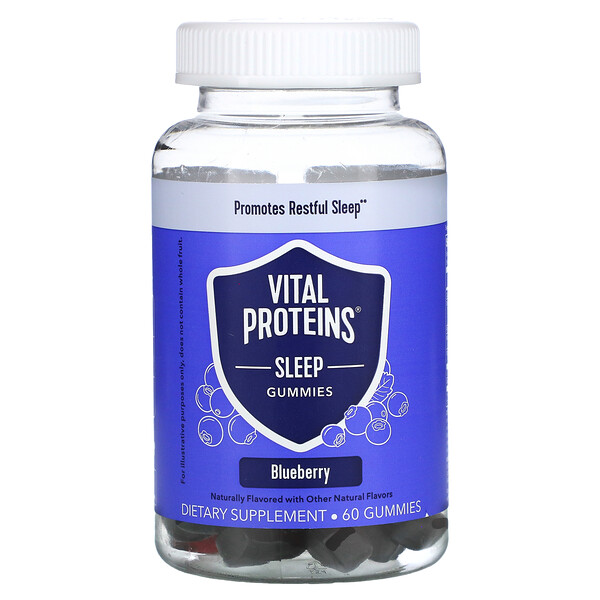 睡眠支持軟糖,藍莓味,60 粒軟糖