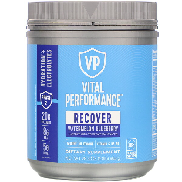 Vital Performance, Recover, Watermelon Blueberry, 28.3 oz (803 g)