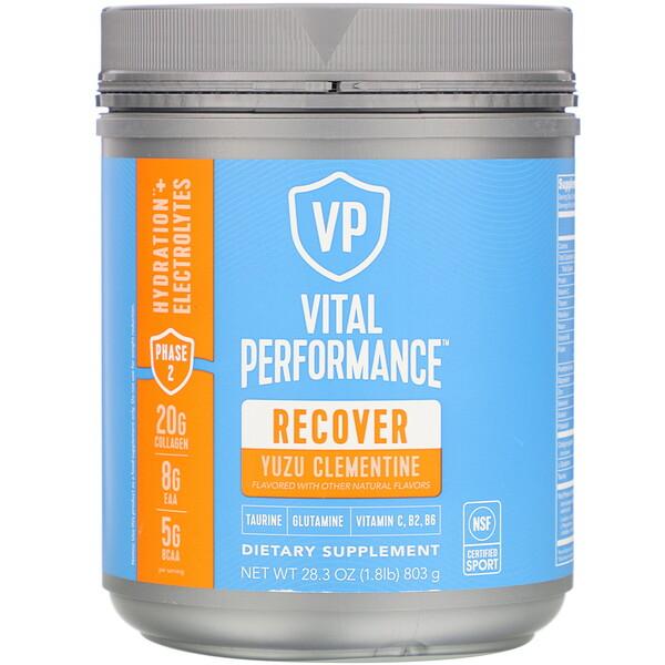 Vital Proteins, Vital Performance, Recover, Yuzu Clementine, 28.3 oz (803 g)