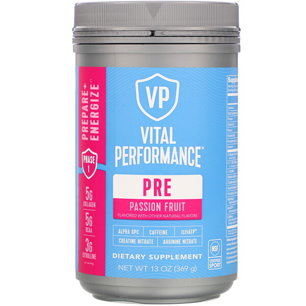 Vital Proteins, Vital Performance, Pre, Passion Fruit, 13 oz (369 g)