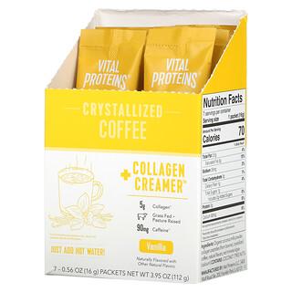 Vital Proteins, Crystallized Coffee + Collagen Creamer, Vanilla, 7 Packets, 0.56 oz (16 g) Each