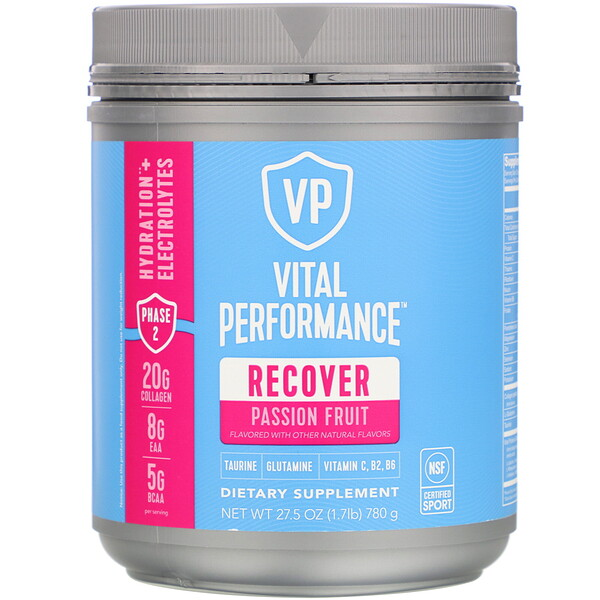 Vital Performance, Recover, Passion Fruit, 27.5 oz (780 g)