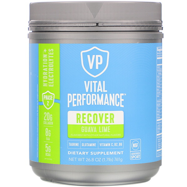 Vital Proteins, Vital Performance, Recover, Guava Lime, 26.8 oz (761 g) (Discontinued Item)