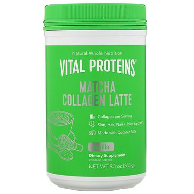 Купить Vital Proteins Матча латте с коллагеном, ваниль, 265г (9, 3унции)