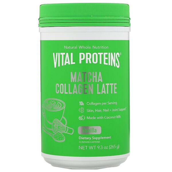 Matcha Collagen Latte, Vanilla, 9.3 oz (265 g)